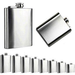 Stainless Steel Hip Flask Flagon Portable Whisky Flasks Wine Pot Bottle Drinkware Alcohol Bottle For Drinker Bar Accessories