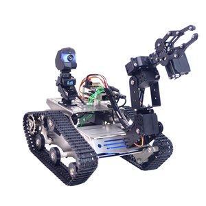 Programmable TH WiFi FPV Tank Robot Car Kit With Arm For Arduino MEGA For Children Toys - Standard Version Small Claw Large Claw