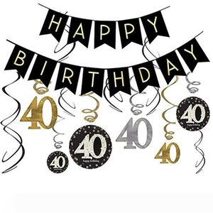 40TH Birthday Party украшения Kit