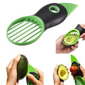 الجملة 3 في 1 الأفوكادو القطاعة متعدد الوظائف زبدة الفاكهة مقشرة فاصل البلاستيك سكين مطبخ الفاكهة الخضار أدوات الرئيسية ملحقات