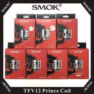 SMOK TFV12 Prince-Coil Q4 M4 X6 T10 Double Triple Max Mesh Strip X2 remplacement Cores 100 Clapton% Original E cigarette Vape Bobines