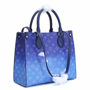 Donne Tie Dye borsa della borsa Shopping Pochette Tote Tela Moda Crossbody tela di Evening Bag Shopping Shoulder Bag 32cmx24cmx17cm Type1