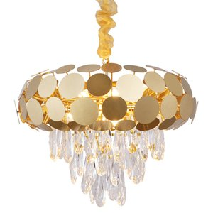 nouveau lustre moderne cristal vie éclairage AC110V 220v lustre cristal kronleuchter or dinning lights