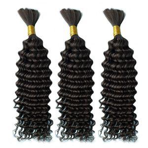 Virgini Remyi 브라질 대량 깊은 웨이브 100 % 인간의 머리 번들 털도 10 ~ 30 인치 없음 씨실 자연 색상