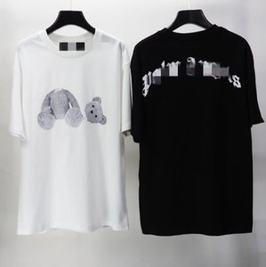 20ss Nero White Palm Ice Blue rotto Orso Angles manica corta in bianco e nero T Uomini e Donne T-shirt