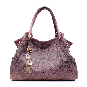 JCPAL women handbags hollow out ombre floral print shoulder crossbody bags ladies pu leather totes fashion messenger bag female