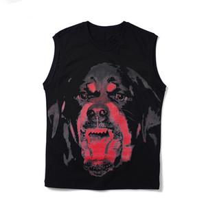 Собака Printed Мужская футболка Летняя Короткие рукава Мужчины Женщины Стилист тенниска вскользь хлопка рукавов Tee Размер S-XXL