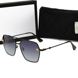 Case ve Kutusu ile Moda Erkek Tasarımcı Polarize Güneş Gözlüğü Kadın küçük arı Güneş Gözlükleri UV400 Güneş gözlüğü