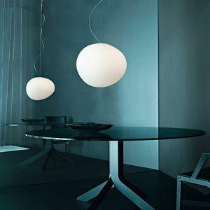 2020 Italia Foscarini Gregg Sospensione della lampada si illumina Pendente di vetro moderno ha condotto la lampada a sospensione irregolare Sala da pranzo Cucina Light Fixtures