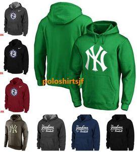 Männer Heiße Art NY Yankees Fanatics Branded Tag Heißpressen Pullover Schwarz Rot Blau Hoodies