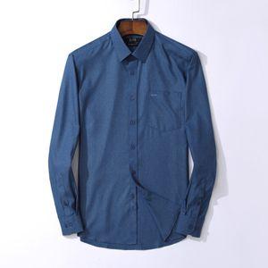 Футболки мужские футболки с длинным рукавом Мужские рубашки с b0ss марка одежды свободного покроя тонкий нужным camisa социальные мужчины свободного покроя сорочка Homme