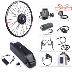 Construido de la rueda trasera Bafang 48V 500W bicicleta eléctrica sin escobillas engranaje del cubo del motor Kit de conversión de 48V 12Ah correo bicicletas de celda de batería Samsung