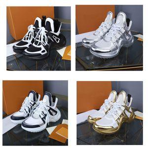 2019 yeni Siyah ARCHLIGHT Siyah Rahat Ayakkabılar Beyaz Mavi Monogram sneakers Hakiki Deri Eğitmenler Koşucu Ayakkabı