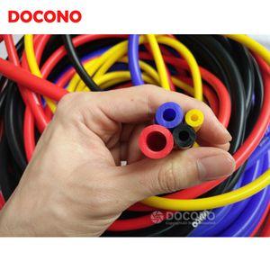 DOCONO Car mangueira de silicone vácuo 5M Preto Azul Vermelho Amarelo três milímetros 4 milímetros 6 milímetros 8 milímetros Car Vehicle Silicone Tubing Auto Vacuum Tube Hose Pipe