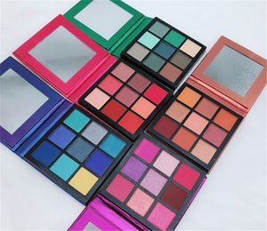 2020 Huda Beauty Eyeshadow Palette 9 Colors Eye Shadow RUBY SAPPHIRE AMETHYST EMERALD TOPAZ Obsessions Palette Highly Pigmented Mattes