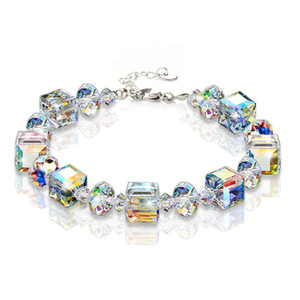2019 Summer Geometric Square Crystal Charm Bracelets For Women Fashion Adjustable Engagement Party Jewelry Pulseras Mujer