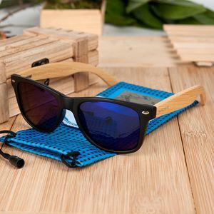 BOBO BIRD Plaza de las gafas de sol de la vendimia mujeres de los hombres de madera Gafas de sol retro polarizada oculos Marca MX200527