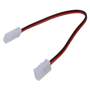 5X LED PCB Connector Adapter 2 Pin for 5050 Monocolor and RGB Strip 8mm wide