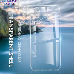 Şeffaf kılıf iphone için X XR XS Max i7 i8 artı cam geri TPU Çerçeve Kapak Koruyucu Çizilmez kaymaz Temizle UltraThin Coque