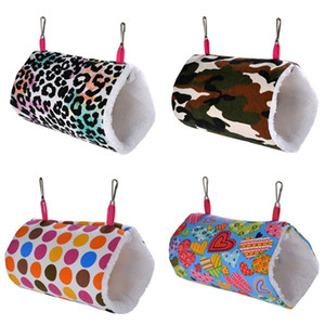 Comforable Pet Tunnel Toys Animal Owl Dot Camo Printed Canvas Small Animal Hang Cave Mini Hammock Bed Hamster Hedgehog And Rat 9 9wc E19