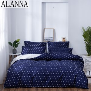 Alanna X-1011 Printed Solid bedding sets Home Bedding Set 4-7pcs High Quality Lovely Pattern with Star tree flower T200706
