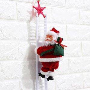 Électrique du Père Noël Décorations escalade Cordes jouets électriques pour enfants Père Noël jouets échelles d'escalade jouets en peluche nouveau GG