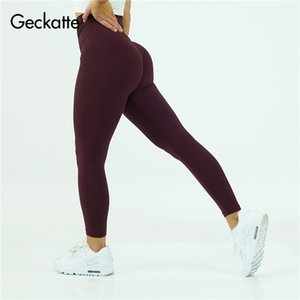 Geckatte yoga pants for women high waisted sportswear fitness jogging gym leggings woman nude skinny workout trousers mujer Y200529