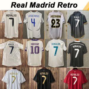 1997-2000 Real Madrid SEEDORF RAUL Mens RETRO Jerseys 2001-2007 ZIDANE BECKHAM 2011-2018 RONALDO KAKA' SERGIO RAMOS Football Shirt Futebol