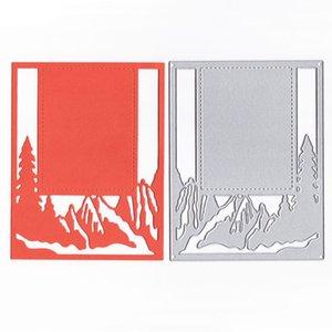 YLCD1633 Landcape 배경 Scrapbooking 스텐실을위한 금속 절단 다이스 DIY 카드 앨범 장식 Embossing Folder Die Cuts