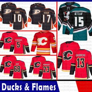 Anaheim Ördekler erkekler Ryan Getzlaf 17 Ryan Kesler 10 Perry Hokeyi Formalar Calgary Flames 13 Johnny Gaudreau 5 Mark Giordano 23 Sean Monahan Jagr