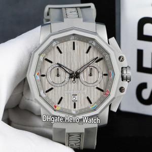 Новый Кубок Адмирала AC-One A116 / 02597 серый циферблат Кварцевый хронограф мужские часы титановый стальной корпус серый резиновый ремешок Sport Hello_watch R-E25B4