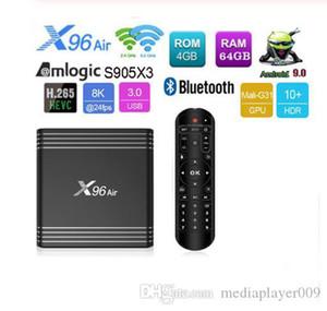 X96 Air Android 9.0 8K 4k TV Box Amlogic S905X3 4GB 64GB 2.4G 5G Dual WiFi USB3.0 BT4.0 H.265