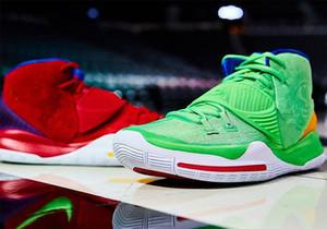 2020 Nova Kyrie 6 PE incompatibilidade verde vermelho Homens Basketball Shoes Designer Irving 6s Invitational Sports Sneakers Com caixa de loja frete grátis