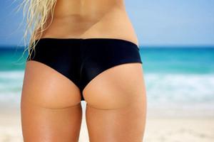 Sexy Bikini Swim Trunks Women Swimwear Beach Bathing T-Back Thong Bow Black Short Summer Swim Women Bottom Beach Pants