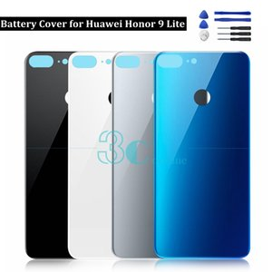 Для Huawei Honor 9 Lite Заднее стекло Задняя крышка батарейного отсека Корпус двери Honor 9 Молодежная задняя панель 3M Запасные части для клея Замена