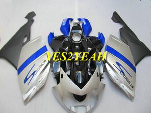 Kit de carrocería Carenado de motocicleta para BMW K1200S 05 06 07 08 K1200S 2005 2006 2007 2008 Plateado negro Carenados carrocería + Regalos BA05