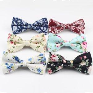 Erkek Bow Tie Esnek Papyon Boyun Tie Seti Kravatlar Smooth Kravat Yumuşak Pamuk Kelebek Dekoratif Desen Paisley Çiçek Bağları
