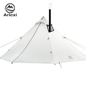 AricXi 3-4 Personen Oudoor Ultraleichtes Campingzelt Professional 20D Nylon Silikonbeschichtungspyramide Stangenloses Zelt