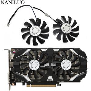 Cheap Fans & Cooling HA8010H12F-Z 75MM 2Pin 1050 GTX1050Ti GPU Cooler DUAL Fan For MSI Geforce GTX 1050 1050TI TOC Graphic Card