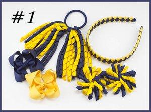 Завитые ленты Korker Ponytail держатели стримеров сплетенные ободки для волос луки клипы галстуки цветов Corker волос Bobbles Аксессуары 18sets PD026