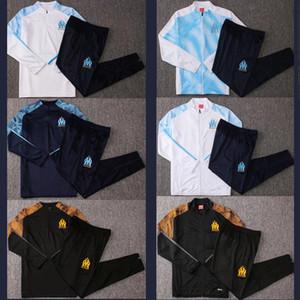 2019 Olympique de Marseille giacca tuta Calcio Maglia piedi 19 20 PAYET L.GUSTAVO THAUVIN OM Football vestito giacca da allenamento