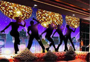 papel mural Karaoke bar KTV disco fantasy dance club night tooling background wallpaper 3d wall murals papel de parede