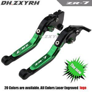 !Logo(ZR-7) Green+black For ZR-7 S ZR7 ZR7S 1999-2003 2000 2001 2002 CNC Motorcycle Brake Clutch Levers