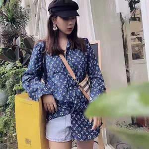 yashangyi CAMISAS Feminina 2019 Yeni Bahar Uzun Kollu Baskı Bayan Bluzlar ve Harajuku Streetwear Gömlek Giyim Tops