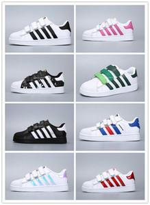 Adidas Superstar Smith Allstar Kinder Superstar Schuhe Original White Gold Baby Kinder Superstars Sneakers Originals Super Star Mädchen Jungen Sport Casual Schuhe 24-35