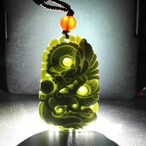 قلادة جايد جايد القلادة الطبيعية Xinjiang و Tianyu mo yu Qing Yulong مجوهرات pendant