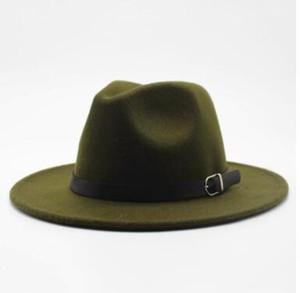 Outono-Inverno Imitação de lã Mulheres Homens Senhoras Fedoras Top Jazz Hat Redonda Europeia americano Caps Bowler Chapéus