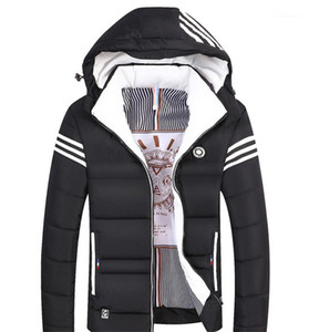 Size Cotton Padded Suit Mens Fashion Apparel Men Hooded Designer Down Jacket Slimming Body Thickening Plus