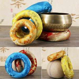 Chantants tibétains Bowl Mat Religion croyance bouddhiste Fournitures Décoration couleur aléatoire livraison 8/10 / 12cm