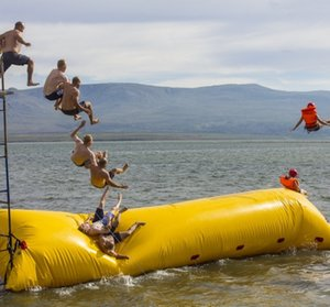 Parque jogos infláveis Água Jumping travesseiro inflável Água Blob Ir Air Bag água inflável Catapult Blob Para Lake